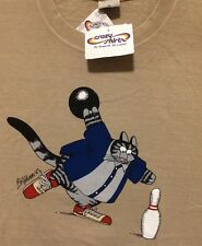NWT XL MENS KLiBAN ALLEY CAT Bowling Ball CRAZY SHiRTS Shoes HAWAII COFFEE DYED