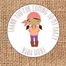 Pirate themed Party bag stickers 24 thank you for coming sweet cone labels