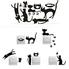 5pcs Removable Cute Lovely Cat Switch Wall Sticker Vinyl Decal Home Decor