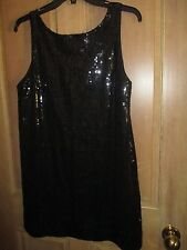 NEW✿ Free People MINI DRESS 8 M BLACK Sequins Tunic Shirt Top Clubwear