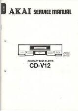 AKAI Service Anleitung Manual CD-V12   B1150