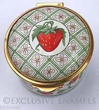 Staffordshire Enamels Art Nouveau Style Strawberry Design Enamel Box