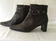 RARE DESIGNER MARCO TOZZI BROWN ANKLE BOOTS UK 6 EUR 39