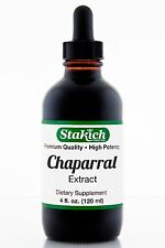 4 oz Chaparral Extract High Quality Pure Natural Herbal Tincture Wild Crafted