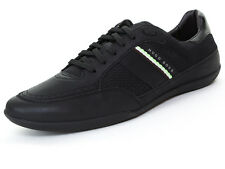Hugo Boss señores sneakers City tex 41 UK 7 us 8, negra, cuero textil Green Label