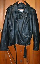 Street Legal Men's Leather Jacket Black Motorcycle L Thin Leather
