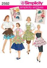 SEWING PATTERN SIMPLICITY ARCHIVES 2592 MISSES' APRONS