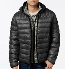 Tommy Hilfiger Hooded Packable Jacket - Dark Gray XL