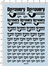 Different scale size Discovery channel Logo For Car Model Kit Water Slide Decal