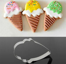 Stainless Steel Ice Cream Cone Cake Biscuit Cookie Cutter Bread Cupcake Mold