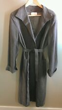 Abe Schrader Vintage Womans Long Coat Lined Grey Nice!