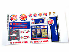 CUSTOM STICKERS for Burger King Restaurant MODELS, TOYS ,etc (Lego 3438 size)