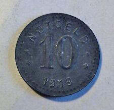 10 PFENNIG - NOTGELD 1919 - UNTERWESERSTÄDTE - s bis ss (1677