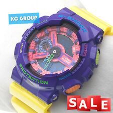 G-SHOCK BRAND NEW WITH TAG GA-110HC-6  YELLOW X PURPLE Hyper Color WATCH
