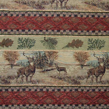 DEER LEAF FREIZE UPHOLSTERY FABRIC MOUNTAIN LODGE DEER VALLEY RUSTIC TAPESTRY