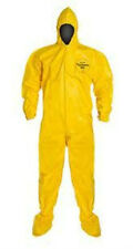 Dupont Tychem QC Tyvek QC QC122S Chemical Hazmat Suit SIZE SMALL YELLOW NEW