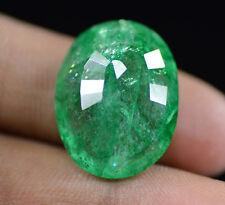 Excellent 24.20 Ct Natural Oval Shape EGL Certified Huge Green Emerald Gemstone