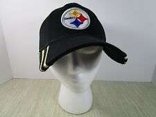 Pittsburgh Steelers NFL Ball cap Snap Back Black & Gold Trucker Hat white mesh