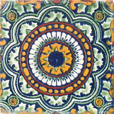C#035) MEXICAN TILE CERAMIC TALAVERA MEXICO HAND MADE ART TALAVERA TILE