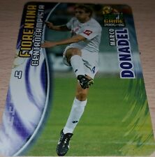 CARD CALCIATORI PANINI 2005-06 FIORENTINA DONADEL CALCIO FOOTBALL SOCCER ALBUM