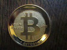 ".999 Fine 24K Gold Plated BITCOIN 'Vires In Numeris"" Commemorative Physical COIN"