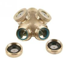 Brass Spray Misting Nozzle Garden Sprinklers Fitting Hose Water Connector 4 Hole