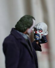 Newest 1/6 Scale Bank Robber Joker Mask for Hot Toys Narrow Shoulder Body