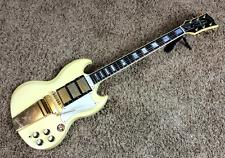 Video! 1988 Gibson SG Les Paul Custom '61 Reissue Aged White 3 Pickup