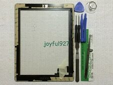 Black Adhesive Replacement Digitizer Touch Screen Glass For iPad 2 with Tools