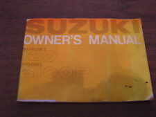 Vintage Suzuki OEM Owners Manual 120 Model B100 P