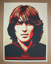 Shepard Fairey Obey Giant George Harrison The Beatles Red Print Art Poster