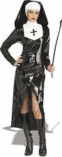 Ladies Gothic Dominatrix PVC Mother Superior Halloween Fancy Dress Size 10-12