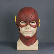 The Flash Allen Cosplay Helmet Halloween Full Face Latex Mask Helmet Hood