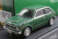 Ebbro 43123 1:43 scale Honda Civic 1200 Hi-Deluxe 1972 Die Cast Model Car Green