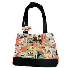 COCA-COLA Rare Collage Retro Tote Bag, Vintage Coke Collectible Holiday Gift NEW