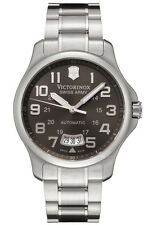 New Victorinox 241373 Swiss Army Men's Officer's Mecha Black Dial Watch