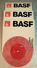 3x BASF vorspannband leader tape rouge/blanc 38cm/sec stéréo-NOS