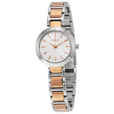 DKNY Stanhope Silver Dial Two-tone Ladies Watch NY2402