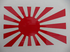 Japan flag rising sun sticker decal cars fun stickers van bumper decal 5344 red