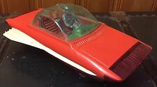 VERY RARE Yonezawa Tin Sea Hawk Future Car, 1960s, With Space Figure, Japan