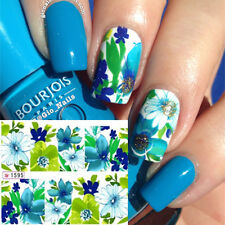 Nail Art Water Transfer Stickers Flower Wraps Foil Decal Tips DIY Manicure 1595