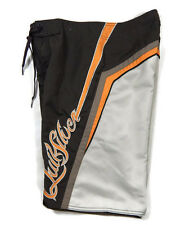 Quiksilver Boardshorts Swimsuit Swim Trunks Brown Orange Boys Mens 28