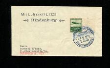 Zeppelin Sieger 417C 1936 3rd North America Flight Germany BordPost Ruckfahrt