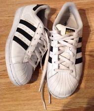 Ladies ADIDAS Originals Superstar Leather Trainers, White/Black,Size 6
