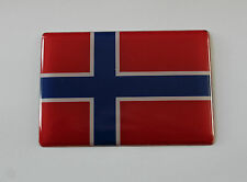 NORWAY FLAG Sticker/Decal - WITH HIGH GLOSS DOMED GEL FINISH