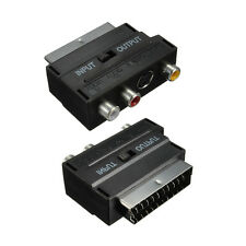 RGB SCART Plug to 3 RCA A/V Video Adaptor Converter for TV DVD VCRs 21 Pins New