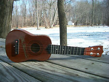 Vintage Hawaiian The Ukulele Guitar Wood Instrument 1940's, TO1960's Collectable