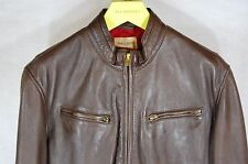 LEVI'S MADE AND CRAFTED MEN SHEEP LEATHER BIKER JACKET .MADE IN ITALY. XLARGE