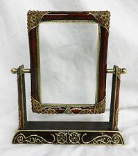 Superbe émaillé et bijoux bronze style art déco pivotant photo frame