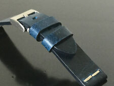 Cinturino cuoio vintage ColaReb ROMA blu 20mm watch band strap made in Italy